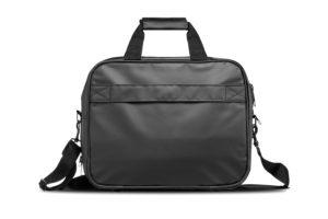 Back side of the tarpaulin laptop weekend bag
