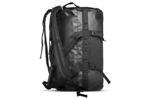 Black offshore duffelbag with backpack function