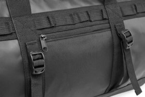 Close up picture of a offshore duffelbag front pocket