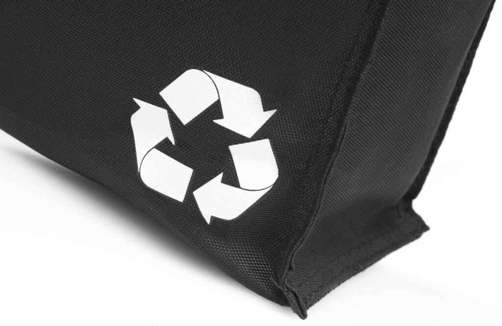 Detailed photo of Semco recycled bag by North Sea Bags
